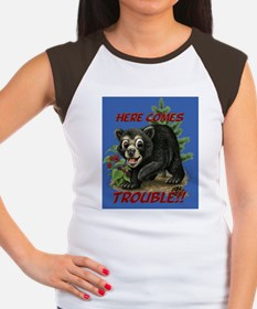 Here Comes Trouble Women's Cap Sleeve T-Shirt