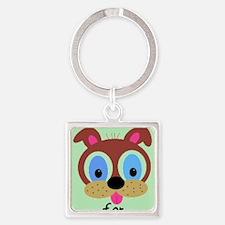 Animal Abuse Square Keychain