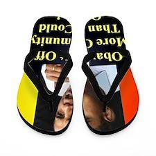 ObamaBitOff11p Flip Flops