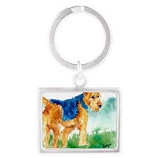 Airedale terrier Landscape Keychain