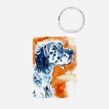 English Setter Aluminum Photo Keychain