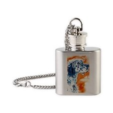 English Setter Flask Necklace