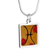 PiscesHeart Silver Square Necklace