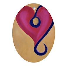 LeoHeart Oval Ornament