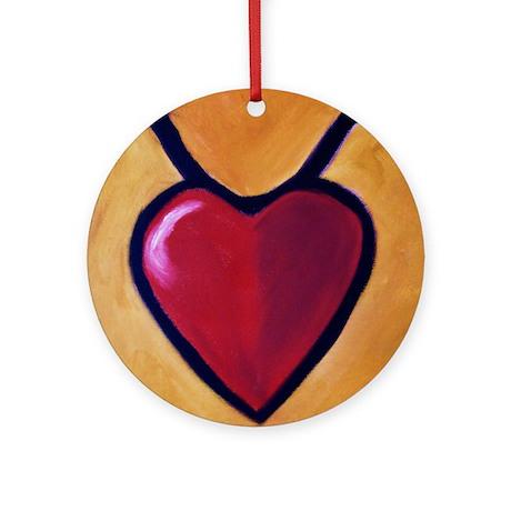 TaurusHeart Round Ornament