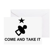 Come and take it large_pacifier Greeting Card