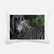 young zebra note Rectangular Canvas Pillow
