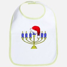 Christmas Menorah Bib