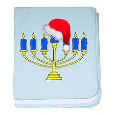 Christmas Menorah baby blanket