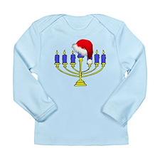Christmas Menorah Long Sleeve Infant T-Shirt
