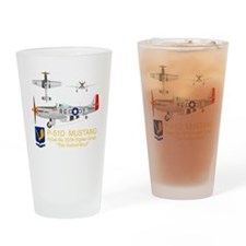 Mustang_Yeager_Front_Dk Drinking Glass