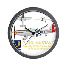 Mustang_Yeager_Front_Dk Wall Clock