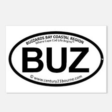 BUZ oval car sticker (C21 Postcards (Package of 8)