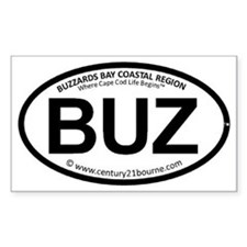 BUZ oval car sticker (C21BL ve Decal