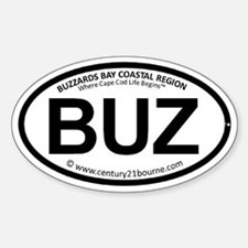 BUZ oval car sticker (C21BL version Decal