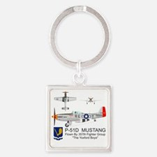 Mustang_Yeager_Front Square Keychain
