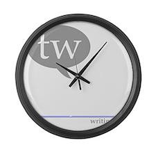tw-cafepress-black Large Wall Clock