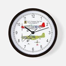 Mustang_RedTail_145_Clock Wall Clock