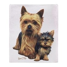Yorkie Terrier  Pup Throw Blanket