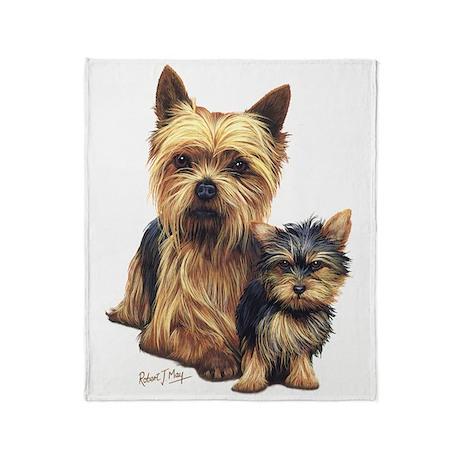 Yorkie Terrier Pup Throw Blanket