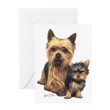 Yorkie Terrier  Pup Greeting Card