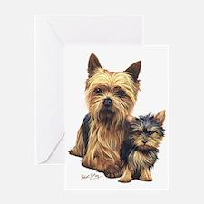 Yorkie Terrier  Pup Greeting Card