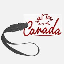 Canada Leaf Script W Luggage Tag
