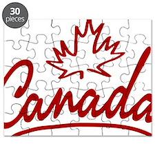Canada Leaf Script W Puzzle