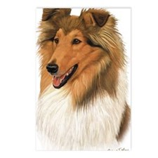Rough Collie 2 copy Postcards (Package of 8)