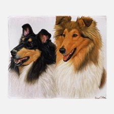 Double Rough Collie Throw Blanket