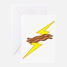 Bacon Power Dark Greeting Card