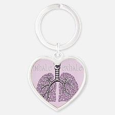 violetlungs2 Heart Keychain