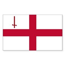 ST English Flag - City of Lond Decal