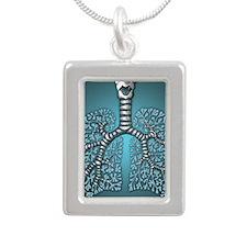 blulungssquare Silver Portrait Necklace