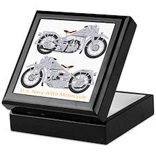 Motorcycle_Navy_Dk_Front Keepsake Box