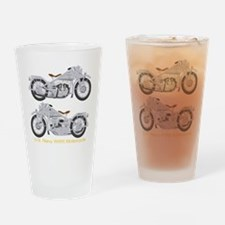 Motorcycle_Navy_Dk_Front Drinking Glass
