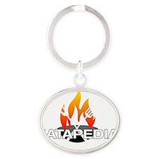 Eatapedia - Black Back Oval Keychain