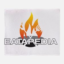 Smaller Logo - White Background Throw Blanket