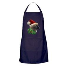 2 Leonberger with Christmas Hat and I Apron (dark)