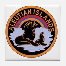 Aleutian Islands Command Tile Coaster