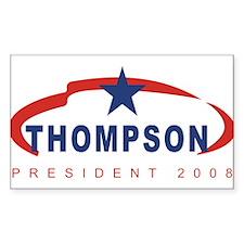 Tommy Thompson for President Sticker (Rectangular