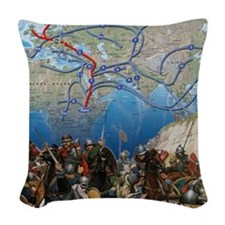 map Woven Throw Pillow
