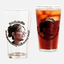 SarahLookingAway12x12 Drinking Glass
