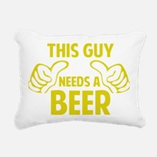 thisGuyBEER1C Rectangular Canvas Pillow