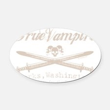 true vampire stone text for tees c Oval Car Magnet