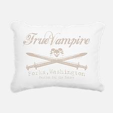 true vampire stone text  Rectangular Canvas Pillow