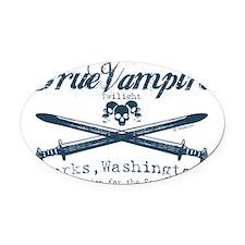 true vampire twilight copy Oval Car Magnet