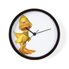 ga_duckwht Wall Clock