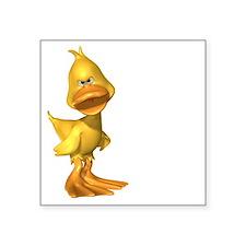 """ga_duckwht Square Sticker 3"""" x 3"""""""