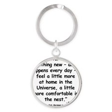 Moyers Learn Quote Round Keychain